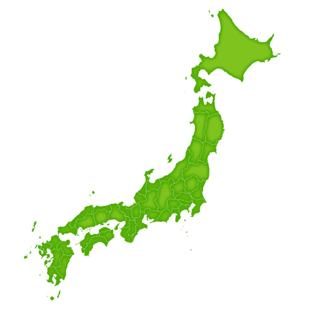 Japan map green icon Reklamní fotografie - 55533668