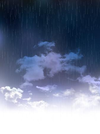 the rainy season: Rainy season rain landscape background