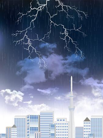 thunderstorms: Rainy season rain landscape background