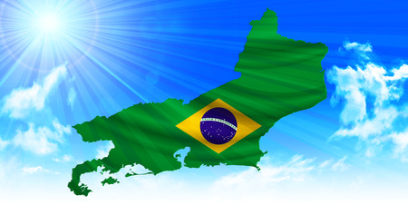 janeiro: Rio de Janeiro Brazil flag background Illustration