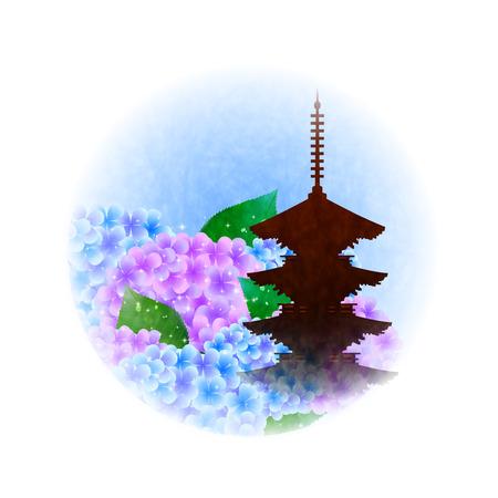 rainy season: Hydrangea rainy season flower icon