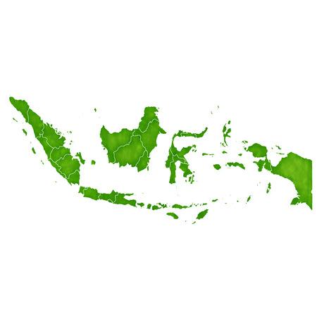 インドネシア地図国アイコン  イラスト・ベクター素材