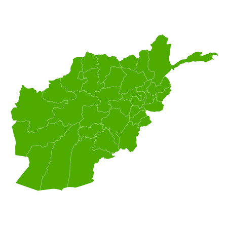 country: Afghanistan map country icon Illustration