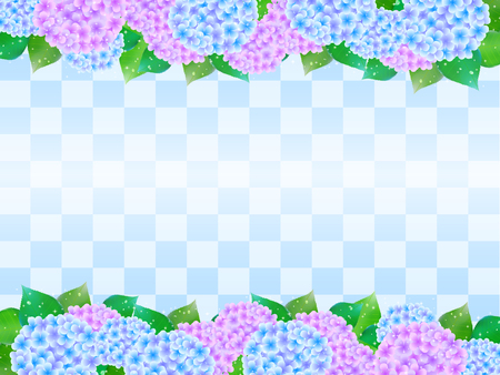 season: Hydrangea rainy season landscape Illustration