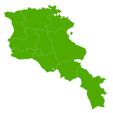 map of armenia: Armenia map country icon
