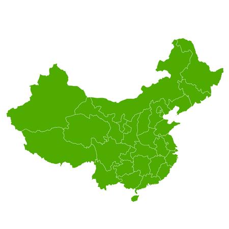 China kaart land pictogram