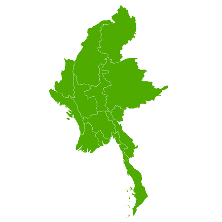 Myanmar map country icon