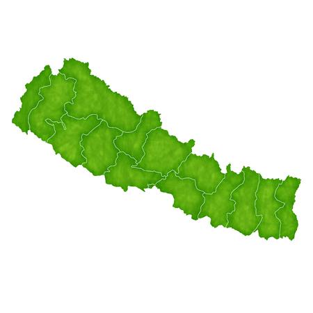 ネパール地図国アイコン  イラスト・ベクター素材