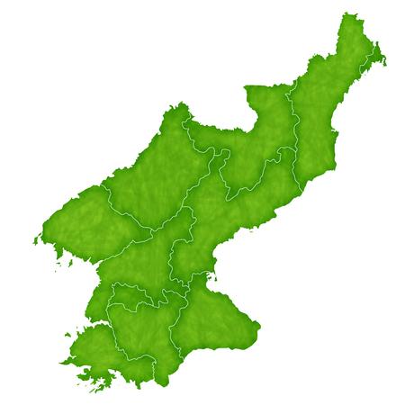 north korea: North korea map country icon Illustration