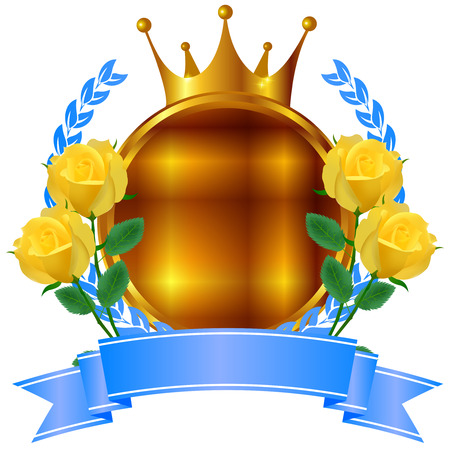 rose: Fathers Day rose crown icon Illustration