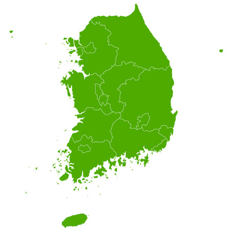 South Korea map country icon