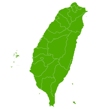 Taiwan map Country icon Illustration