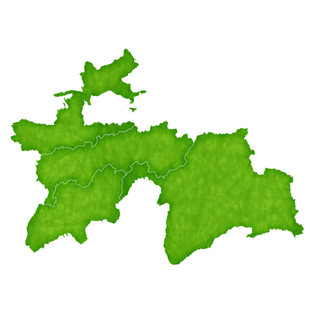 tajikistan: Tajikistan map Country icon Illustration
