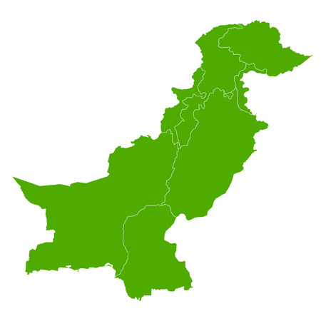 Pakistan: Pakistan map country icon Illustration