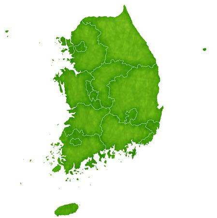 韓国地図国アイコン  イラスト・ベクター素材