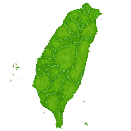 Taiwan map Country icon  イラスト・ベクター素材