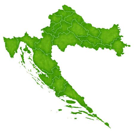 croatia: Croatia map Country icon Illustration