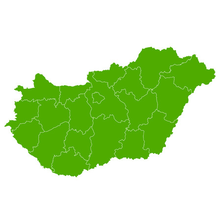 Hungary map Country icon  イラスト・ベクター素材