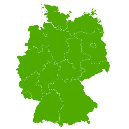 deutschland karte: Deutschland-Karte Land-Symbol Illustration