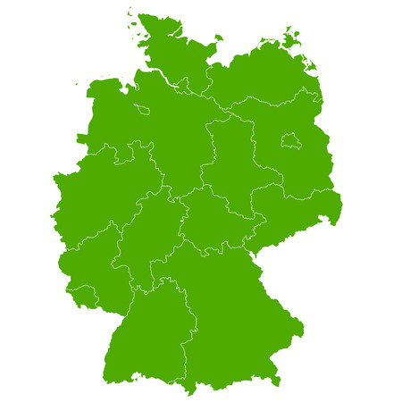 Germany map Country icon Stock Illustratie