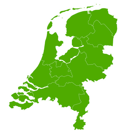 Nederland kaart land pictogram Stock Illustratie