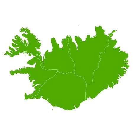 IJsland kaart land pictogram