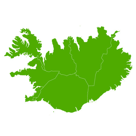 Iceland map country icon