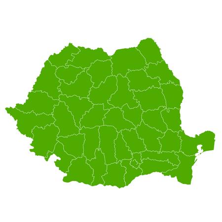 Roemenië kaart land pictogram Vector Illustratie