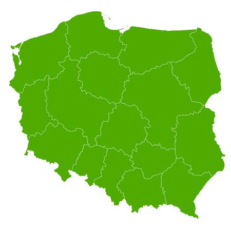 Polen kaart land pictogram