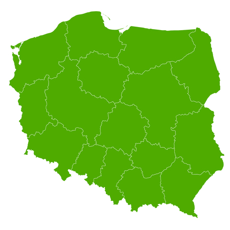 Polen Karte Land Symbol