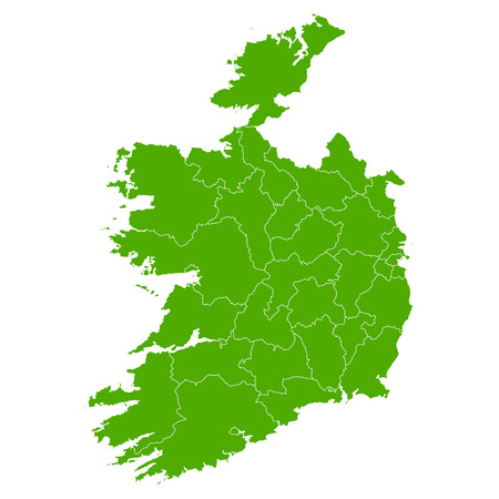 ireland map: Ireland map country icon Illustration