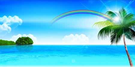 Sea zomer landschap achtergrond