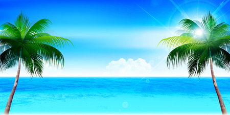 Sea summer landscape background
