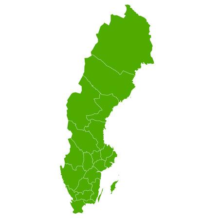 Schweden Karte Land Symbol