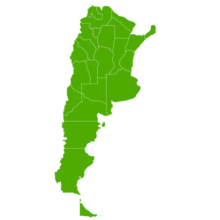 argentina map: Argentina map Country icon Illustration