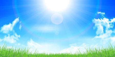 空の夏の風景の背景