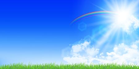 grasslands: Sky summer landscape background