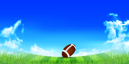 grasslands: Rugby sky landscape background Illustration