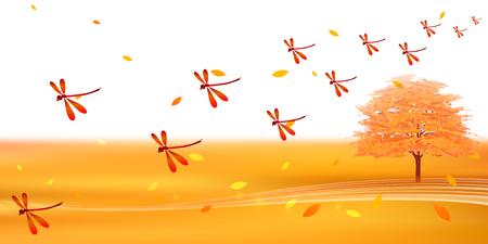 Herbstlaub Landschaft Herbsthintergrund