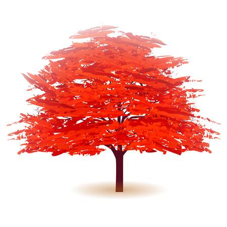 fall leaves: Autumn leaves fall tree icon