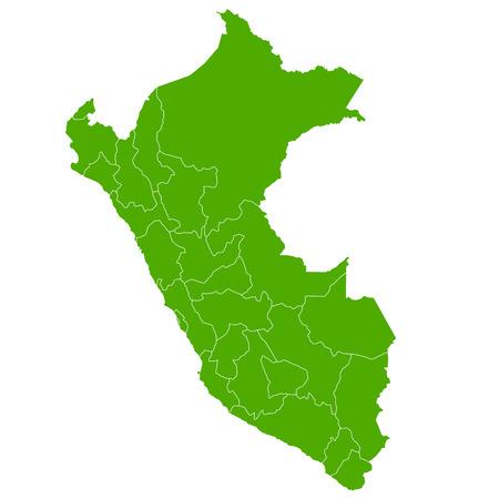 mapa del peru: Per� icono de mapa de Campo
