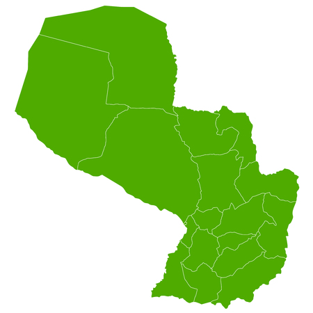 paraguay: Paraguay map country icon Illustration