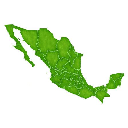 メキシコ地図国のアイコン  イラスト・ベクター素材