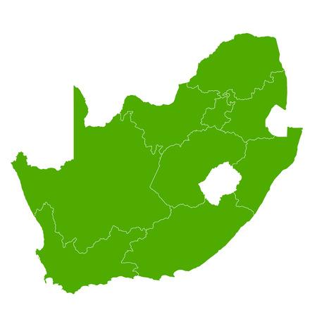남아 프리카 공화국지도 국가 아이콘