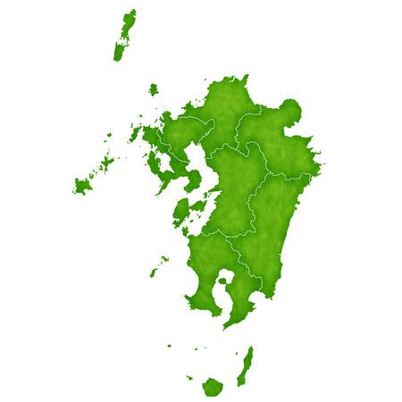 nagasaki: Kyushu map green icon