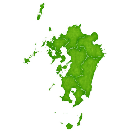 Kyushu map green icon