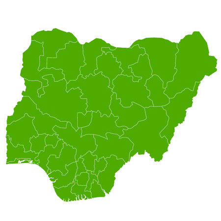 country nigeria: Nigeria map Country icon