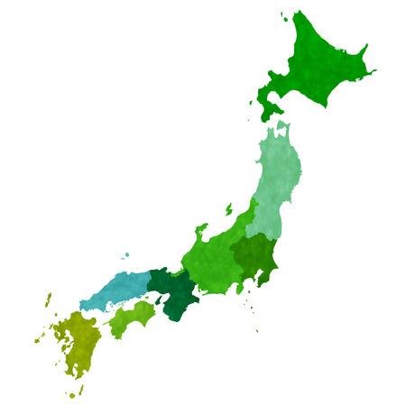 kyushu: Map Japan country icon Illustration