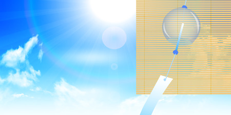 chimes: Wind chimes sky summer background