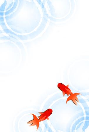Summer Goldfish fond sympathie d'été